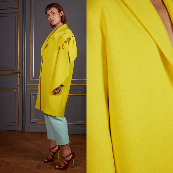 Oversized yellow coat