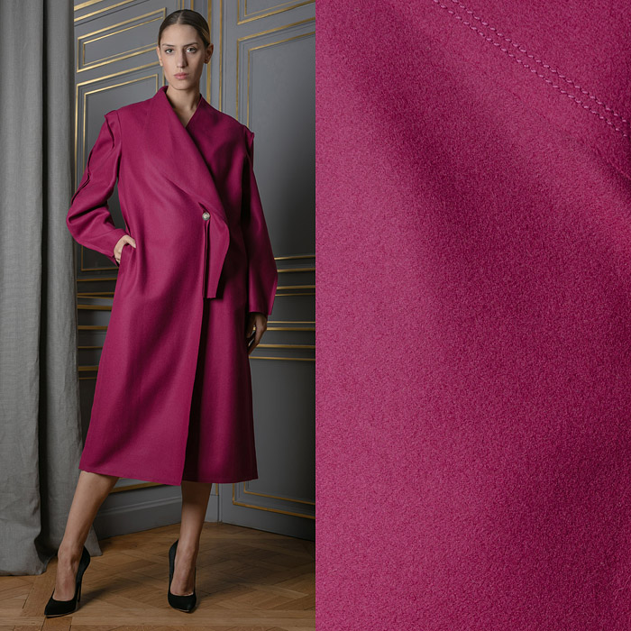 Exclusive minimalist fuchsia coat